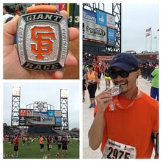 The Giants Race. Gave out some serious bling in a form of a medallion.  Got to finish my half inside AT Park!