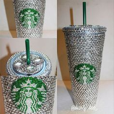Swarovski Crystal Starbucks Cold Cup by TheFawnDoe on Etsy