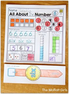 The Numbers 1-20 NO PREP Packet is geared toward Pre-K, Kindergarten and 1st Grade students to identify numbers in a variety of ways while developing number sense, includes Number Word Watches!