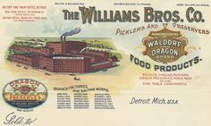 Williams Bros. Co. Picklers (Detroit, Michigan) 1906 a by peacay, via Flickr