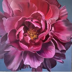 skinny_wolf An amazing painting of one of my peony photos by Peony Painting, Acrylic Painting Flowers, Watercolor Flowers, Watercolor Paintings, Art Floral, Peony Flower, Flower Art, Flor Magnolia, Foto Art