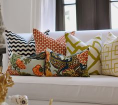 """20""""sq.  Schumacher Betwixt pillow cover in Spark"""