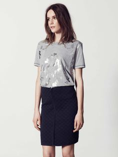 BZR Biola Skirt by Bruuns Bazaar | La Luce http://shoplaluce.com/collections/bzr-by-bruuns-bazaar/products/bzr-biola-skirt