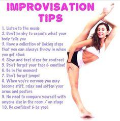 Improv tips stretching tips, flexibility