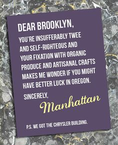 Dear Brooklyn...