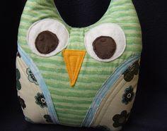 Plush owl pillow--Spring Owl :)