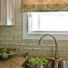 photos of subway tile backsplashes | Posted by Highend Fabric Source at 6:00 AM