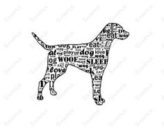 PERSONALIZED Labrador Retriever Dog Silhouette Word Art Print 8 X 10 Calligram Dog Print Pet Gifts