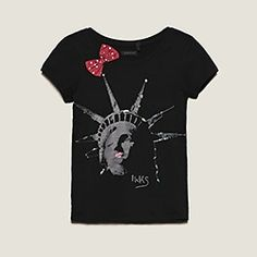 Idée cadeau de noël : Tee-shirt Kid Fille Empire State Of Mind, Ethnic Outfits, My Little Girl, Printed Shirts, T Shirt, My Favorite Things, My Style, Artworks, Prints