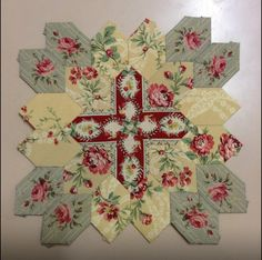I thought this was really gorgeous and I just KNEW you would want to start a quilt like this ASAP so I pinned instructions for you 'cause that's the kind-hearted sister that I am!!!  You can thank me later.  Love ya!