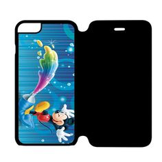 Colorful Mickey Mouse iPhone 6 Plus Flip Case Cover
