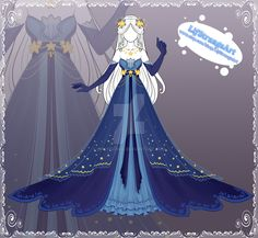 La déesse des étoiles In the sky of the kingdom of Fiore is the sanctuary of the gods. Drawing Anime Clothes, Dress Drawing, Clothing Sketches, Dress Sketches, Fashion Design Drawings, Fashion Sketches, Fantasy Gowns, Anime Dress, Character Outfits