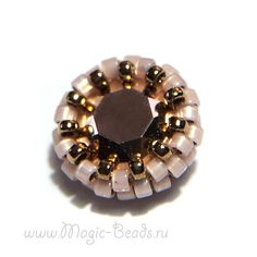 Оплетение шатона SS39 Swarovski Beaded Jewelry, Beaded Bracelets, Beaded Bead, Master Class, Ring Earrings, Create Yourself, Swarovski, Brooch, Embroidery