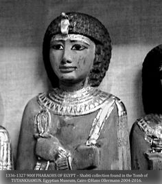 """1336-1327 900f PHARAOHS OF EGYPT – Shabti collection found in the Tomb of TUTANKHAMUN. Egyptian Museum, Cairo ©Hans Ollermann 2004-2016."" ^**^"