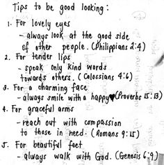 tips to be good looking