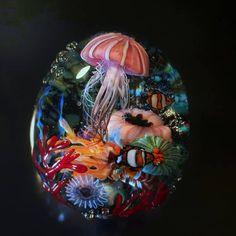 Art Of Glass, My Glass, Resin Crafts, Resin Art, Plexi Glass, Window Art, Sea And Ocean, Resin Jewelry, Lampwork Beads