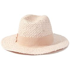 d7b9731b191 Forever 21 Tonal Band Straw Fedora (34 ILS) ❤ liked on Polyvore featuring  accessories