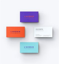 L'Avenir, Dental Clinic on Behance. Excellent colors. Red-orange, Purple, Aqua