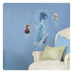 Need Frozen Ice Palace with Elsa and Anna Giant Wall Decal for your next bash? Browse Birthday in a Box for the most wanted individual and party decorations and reduced prices. Wall Stickers Baby Girl, Wall Stickers Home Decor, Vinyl Wall Stickers, Wall Decal Sticker, Frozen Elsa And Anna, Disney Frozen Elsa, Elsa Anna, Frozen Themed Birthday Party, Birthday Party Themes
