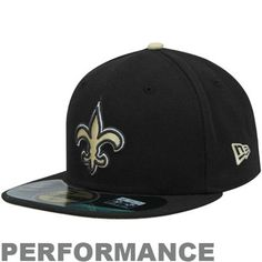 Skyler--New Era New Orleans Saints Youth On-Field Performance 59FIFTY Fitted Hat - Black