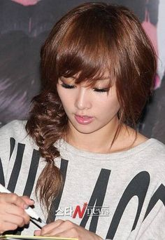 Nicole Jung ( Kara )  Fishtail Hairstyle so cute!