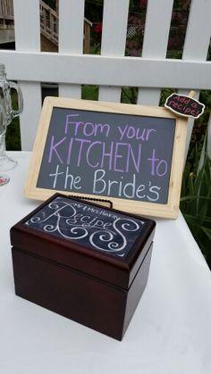 Bridal shower.  Recipe box