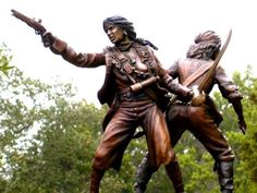 Anne Bonny and Mary Read Bronze Statue, Bahamas