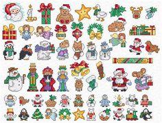 cross stitch patterns free printable | Maria Diaz Designs: MINI MOTIFS (Cross-stitch chart)