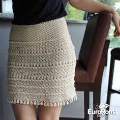Receita • Saia de Crochê Especial - EuroRoma