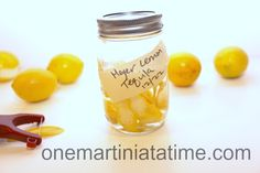 Tequila infused with Meyer Lemons