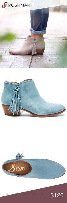 Sam Edelman Paige Bootie NIB Brand new in box! These Paige booties by Sam Edelman are the blue color shown in the photos. Super comfy and surprisingly versatile.  I just purchased these and now can't wear them due to an injury. My loss is your gain Sam Edelman Shoes Ankle Boots & Booties