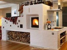 Fireplace Screens, Fireplace Design, Cob House Interior, Wood Stove Cooking, Japanese Interior Design, Home Technology, Cabins And Cottages, Farmhouse Style Kitchen, Solid Wood Furniture