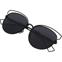 Black Cutout Frame Cat Eye Sunglasses ($12) ❤ liked on Polyvore featuring accessories, eyewear, sunglasses, black, cat eye sunglasses, cateye sunglasses, cat-eye glasses, cut out glasses and cut out sunglasses