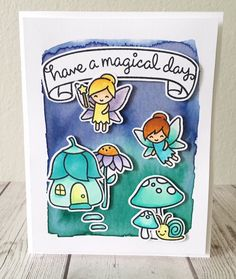 Lawn Fawn Fairy Friends;Lawn Fawn Gleeful Garden; Watercolor