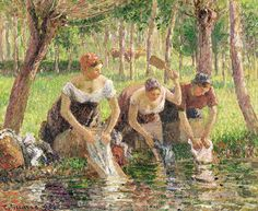 Camille Pisarro「The Washer Women」