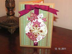 Burgundy Ornament Card - Christmas Village Cartridge