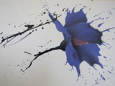 ÜBER DIESES GEMÄLDE  Diese Blumenmalerei entstand aus dem Wunsch, dem Betrachter ein Gefühl von fließen, geben als ob nur durch das werfen der Farben erstellt. Die lila-blaue Blume wird noch verstärkt durch den weißen Hintergrund verleiht der Malerei Vitalität und Raffinesse.   INFORMATIONEN * Name: Abstrakte Blume. * Künstler: Tomer Sharabani * Größe: 59 39 (150 X 100 cm) * Original-Gemälde. * Die Malerei ist ein Simulation Framework. * Stil: Modern, abstrakt. * Wichtig ist, kommt das…
