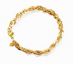 Gold Chain Bracelet Monet Bracelet Chain by PrettyShinyThings4U, $9.00
