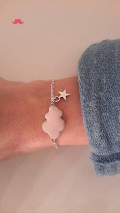Bracelet nuage rose 10€