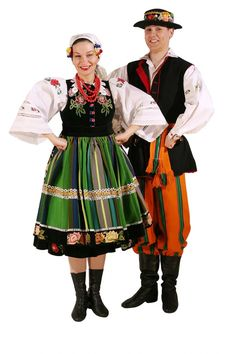 Łowicki outfit - traditional outfit from the Mazowsze area. It is considered the most beautiful and the most representative Polish outfit. It is still used in some religious holidays.