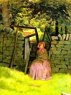 Waiting: 1854 by John Everett Millais (Birmingham Museums and Art Gallery, UK) - Pre-Raphaelite Brotherhood
