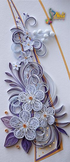 Neli is a talented quilling artist from Bulgaria. Her unique quilling cards bring joy to people around the world. Quilling Cake, Arte Quilling, Paper Quilling Cards, Quilling Work, Origami And Quilling, Quilled Paper Art, Paper Quilling Designs, Paper Crafts Origami, Quilling Patterns