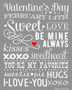 Valentine's Printables {for the home}