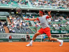 Roger Federer was in fine form for his first match of the tournament, defeating Slovak Lukas Lacko in straight sets, 6-2, 6-4, 6-2.