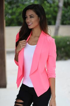 Neon Pink Blazer from Saved By The Dress. Saved to Outfits for everyday. Shop more products from Saved By The Dress on Wanelo.