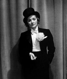 Marlene Dietrich  lookin' like a million bucks in a tux  androgynous love