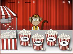 Popcorn sight words - ONLINE game