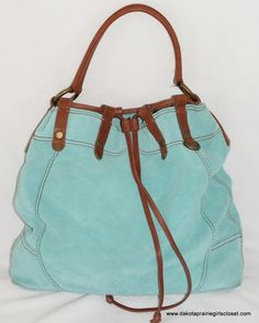Medium Used Lucky Brand Black Leather and Suede Shoulder Bag ...