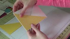 Stampin Up! - Making a Criss Cross card