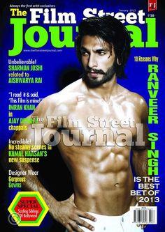 Ranveer Singh Hot Muscles Photoshoot for Film Street Journal 2013